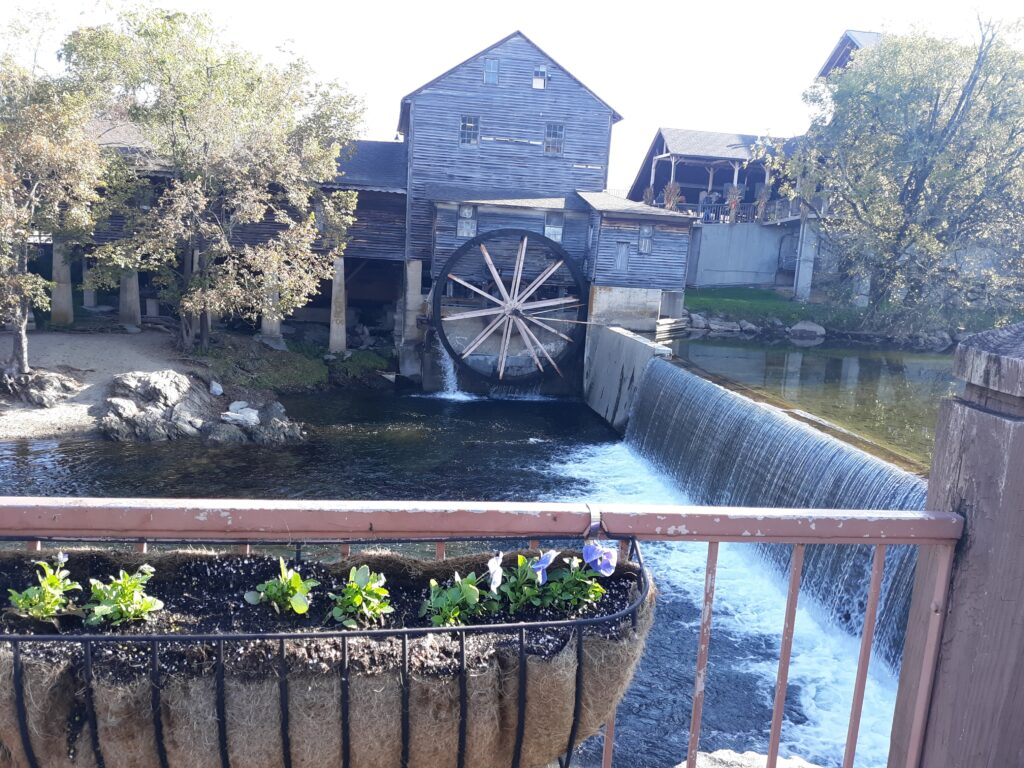 The 190-year-old mill is very charming.  Just needs some WD-40.