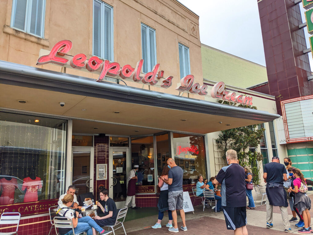 Leopold's Ice Cream has been serving for 101 years;  best I have had in years.